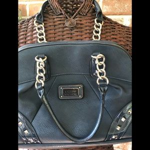 Navy Leather Guess Purse